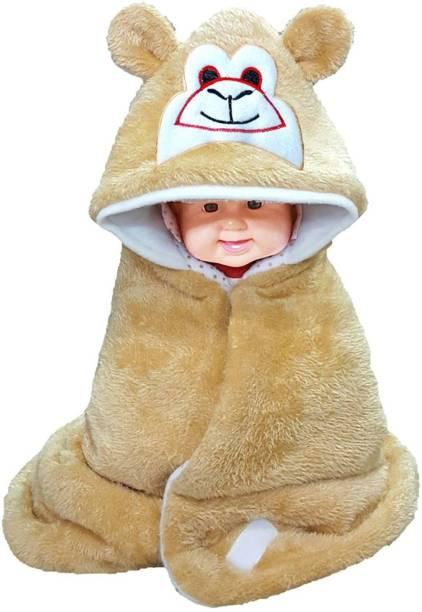 Miss & Chief Printed Single Hooded Baby Blanket