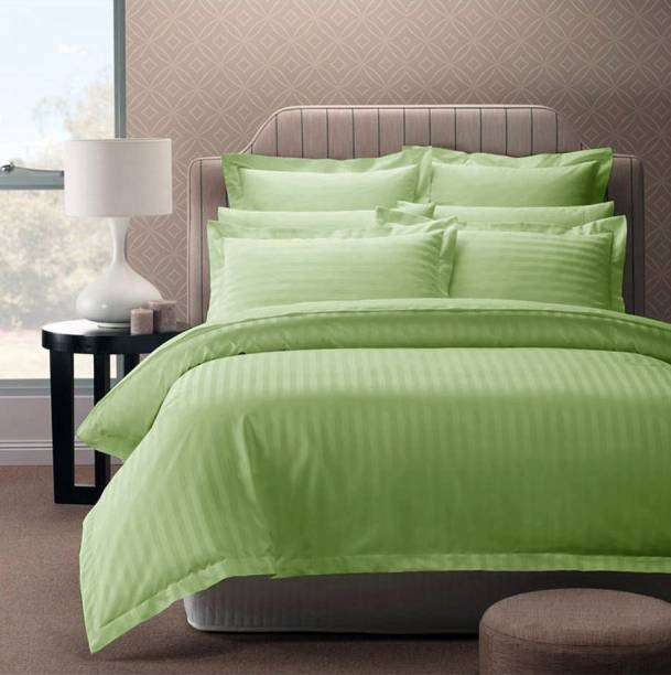 Story@home 300 TC Cotton Double Striped Bedsheet