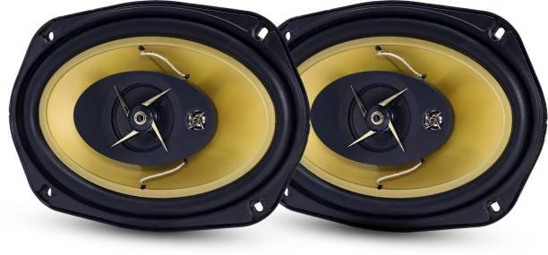 "GoMechanic Sonus S3 GOLD 6""X9"" inch 600W Dust Proof Premium Extra Bass 3-way, Set of 2 Coaxial Car Speaker"