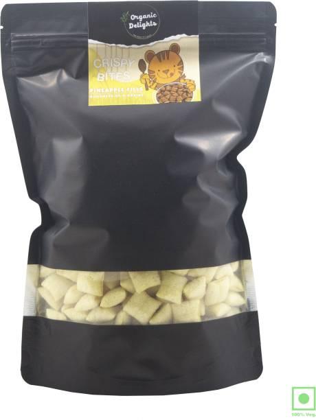 Organic Delights Multigrain Crispy BItes Pineapple 0% Maida High in Calcium and Proteins