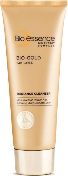 Bio-Essence Bio-Gold Radiance Cleanser | With Pure 24K Gold & Bio-Energy Complex, Anti-Aging, Anti-Oxidant, Gentle Deep-Cleansing Without Skin Tightening, Instantly Refreshes Face Wash