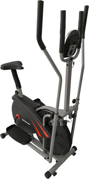 Hercules Fitness Elliptical Cross trainer and Air Bike for home Use Steady for cardio workout Cross Trainer
