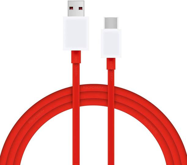 POWERWARP Round Data USB Type-C Fast Quick Charging Sync Cable Cord for Dash Charge Nord,8pro,8T,8,7Pro,7T,7,6T 6, 5T,,5 3T, 3 6 A 1 m USB Type C Cable