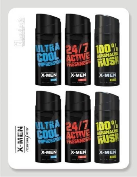 X-Men Cool+Charge+Zest Deodorant Spray  -  For Men