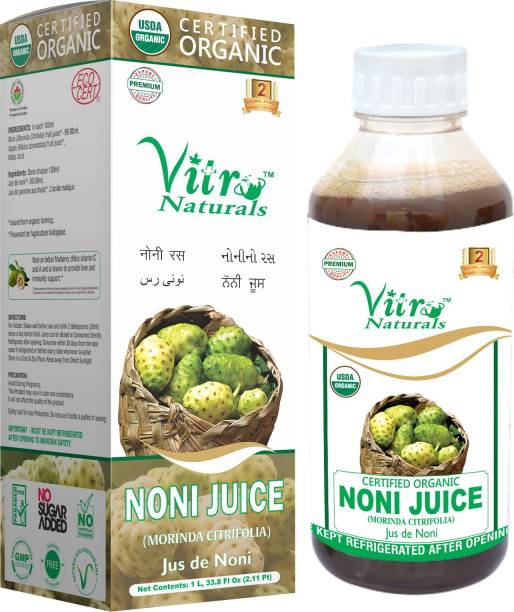 VITRO Certified Organic Noni Juice No added Sugar Maintain healthy skin and hair Natural
