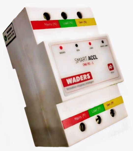 Waders Automatic Changeover Switch with Circuit Breaker ACCL-EB:25A-Gen:25A MCB