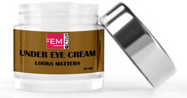 femoctive UNDER EYE CREAM (Delighted With Coffee's And Aloe vera Gel's benefits) (50 gm)