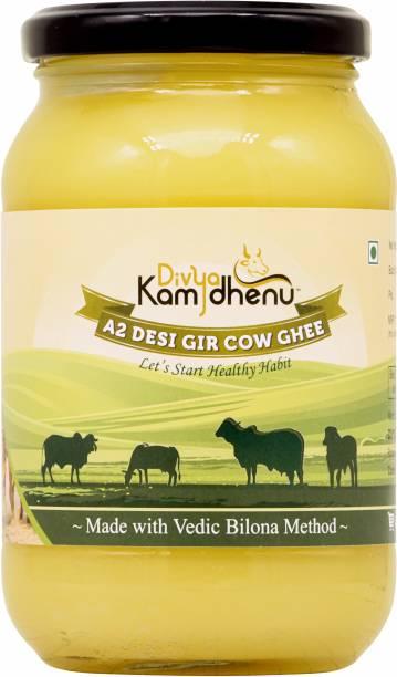 Divya Kamdhenu A2 Desi Gir Cow Ghee Vedic Bilona Method Grass Feed Natural Organic 500ML Glass Jar Packaging 500 ml Glass Bottle