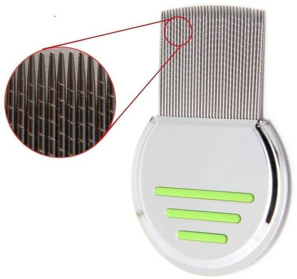 QD Green Lice Comb Stainless steel Nit & Egg For Man & women Kids babies, Very effective for Head and Remover tool