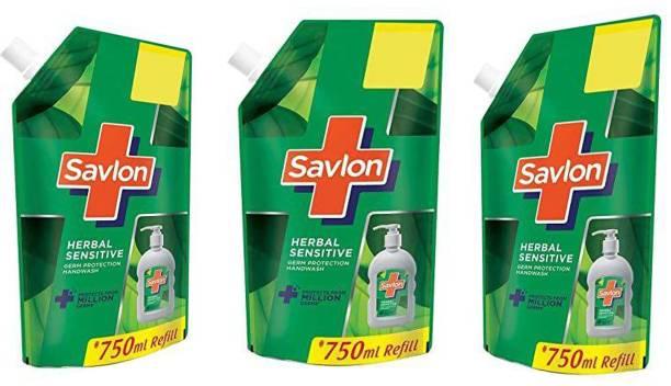 Savlon herbal sensetive Hand Wash Refill Pouch 750 ml ( 3x750 ml ) Hand Wash Refill Pouch