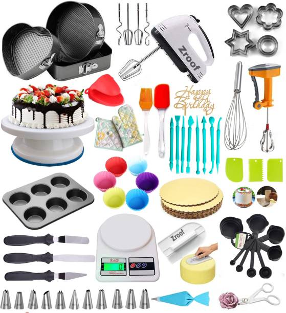 Tranquil Impex Cake Decoratng Big Big Combo with Multicolor Kitchen Tool Set