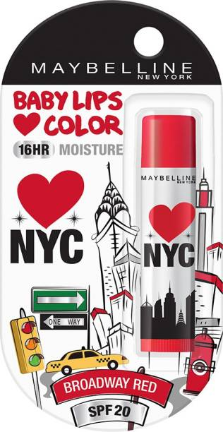 MAYBELLINE NEW YORK Baby Lips Loves NYC Lip Balm Broadway Red