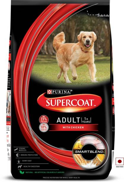 PURINA Supercoat Adult Dry Dog Food with Chicken 2 kg Dry Adult Dog Food