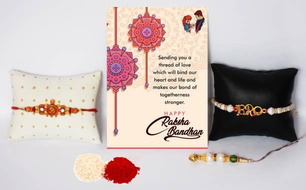 Sai Craft Creations Rakhi, Greeting Card, Chawal Roli Pack, Lumba  Set