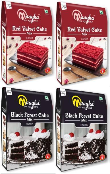 Maayka - Ek Atoot Rishta Red Velvet & Black Forest (2+2) 750 g
