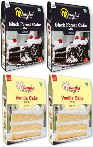 Maayka - Ek Atoot Rishta Vanilla Cake Mix & Black Forest Cake Mix(800gm) 800 g
