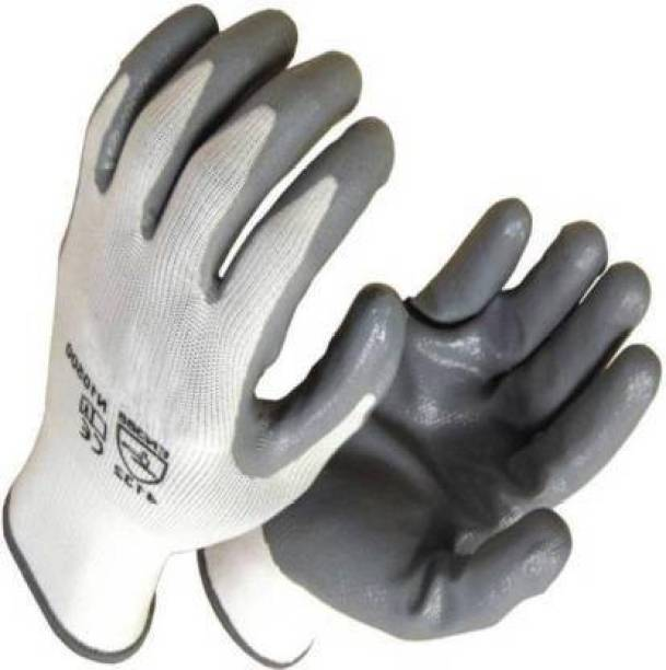 QTM 1 PAIR Safety Anti Cut Hand Gloves pvc cotted frontier Nylon Safety Gloves Nylon  Safety Gloves