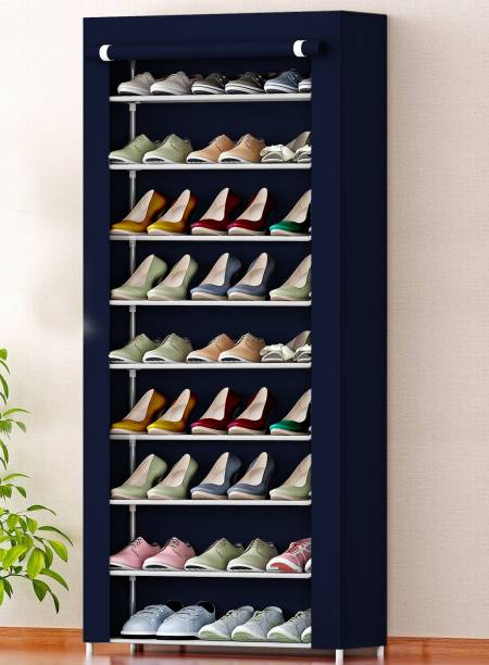 Sampri 9 Layer For Home And Kids Shoe Stand Letest Metal Organizer Plastic for home Collapsible Shoe Stand Metal Shoe Rack