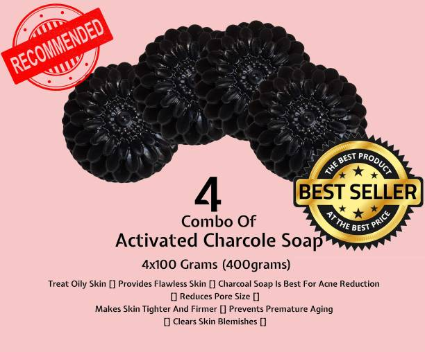 ZETWAL ACTIVATED CHARCOAL Natural Hand Made Soap (4X100)