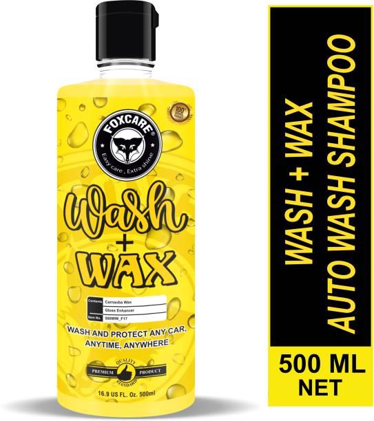 FOXCARE WASH +WAX - AUTO WASH SHAMPOO Car Washing Liquid