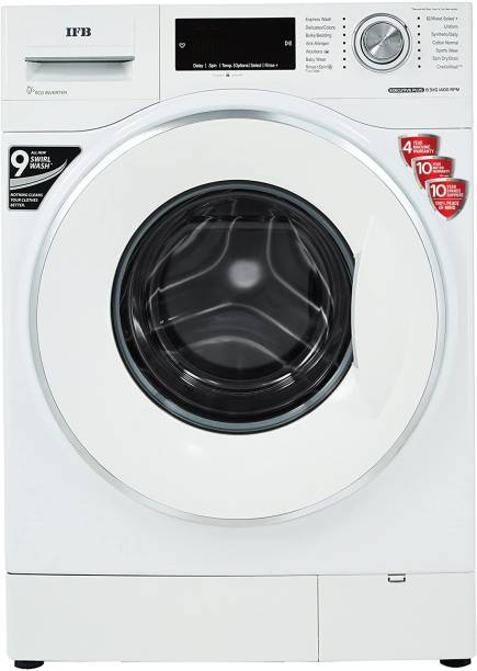 IFB 8.5 kg 5 Star 4D Wash Technology, Drum Lamp & illumination Knob, In-built heater Fully Automatic Front Load with In-built Heater White