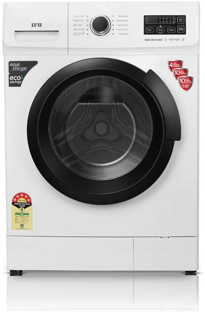 IFB 7 kg 3D Wash Technology, CradleWash, Aqua Energie, In-built heater Fully Automatic Front Load with In-built Heater Black, White