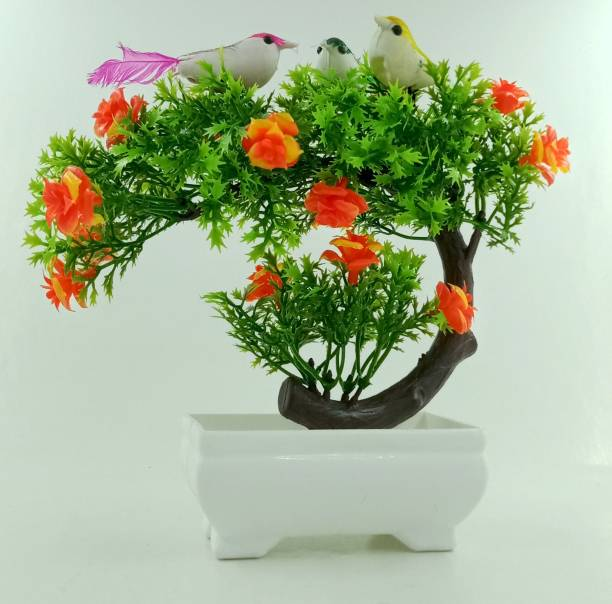 RESILIENCE Artificial Plants for Decoration Bonsai Wild Artificial Plant  with Pot