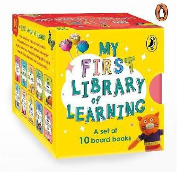My First Library of Learning: Box set, Complete collection of 10 early learning board books for super kids, 0 to 3 | ABC, Colours, Opposites, Numbers, Animals (homeschooling/preschool/baby, toddler)