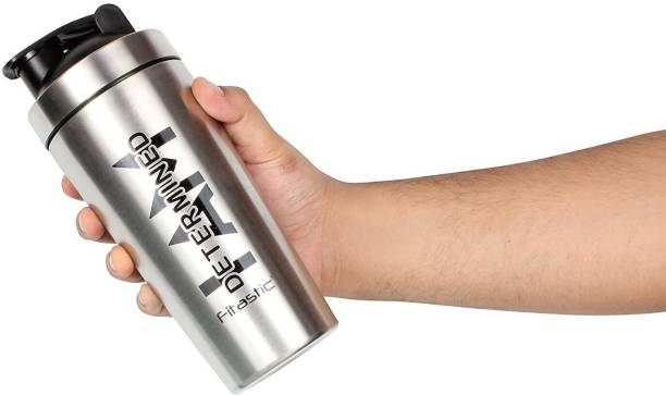 """Fitastic """"Stainless steel Shaker Bottle With Steel Mixing Ball(I AM Determined) 750 ml Shaker"""