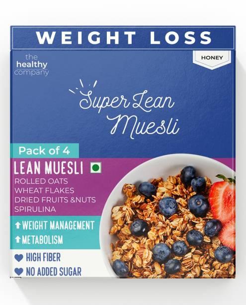 THE HEALTHY COMPANY Super Muesli (300g x4)- Muesli, Cinnamon, Spirulina - Weight Loss, Diabetes, PCOD/PCOS &
