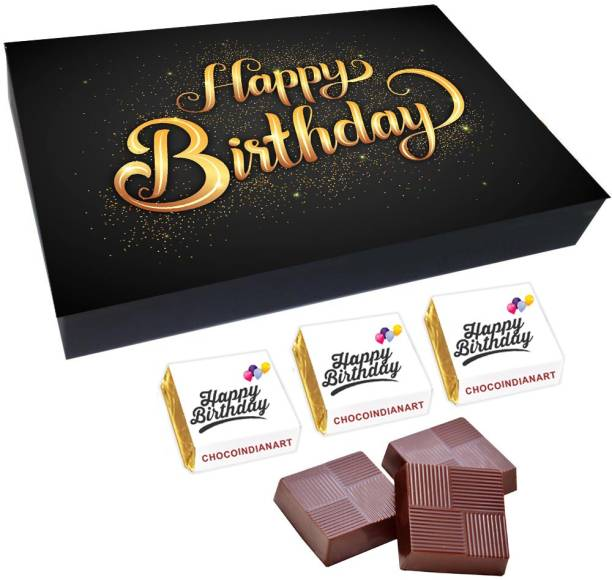 CHOCOINDIANART Very Amazing Happy Birthday, 12pcs Delicious Chocolate Gift Box, Truffles