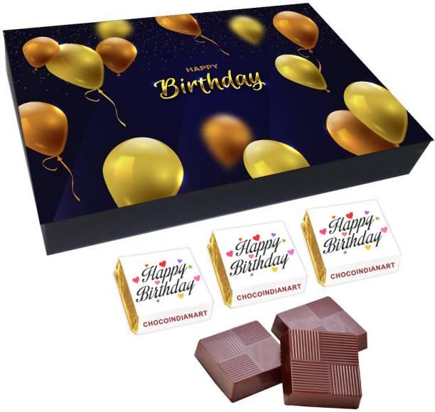CHOCOINDIANART Very Nice Happy Birthday, 12pcs Delicious Chocolate Gift Box 2, Truffles