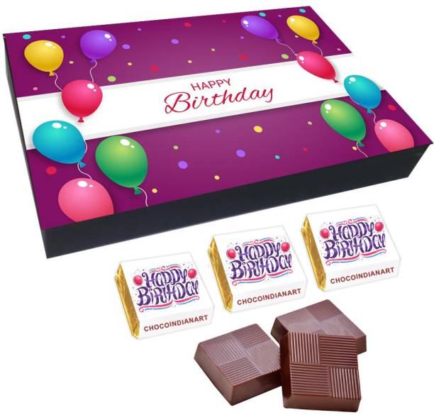 CHOCOINDIANART Super Happy Birthday, 12pcs Delicious Chocolate Gift Box 46, Truffles