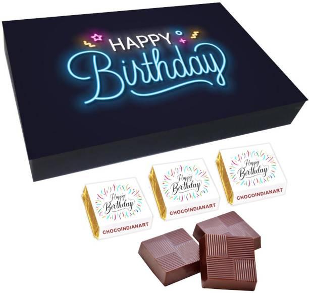 CHOCOINDIANART No. 1 Happy Birthday, 12pcs Delicious Chocolate Gift Box 12, Truffles
