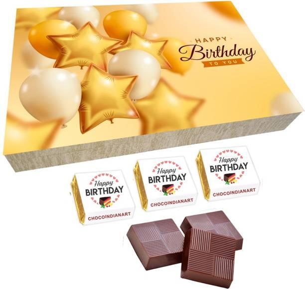 CHOCOINDIANART Sweety Sweety Happy Birthday, 12pcs Delicious Chocolate Gift Box 65, Truffles