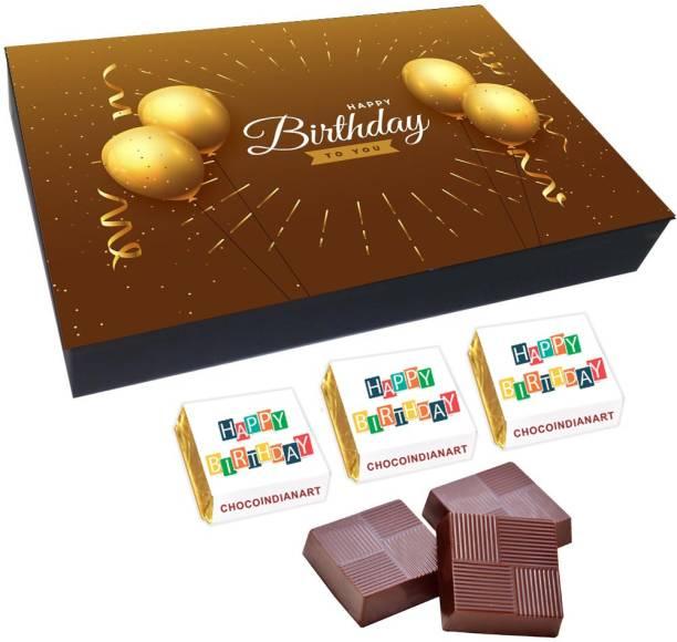CHOCOINDIANART Happy Birthday, 12pcs Delicious Chocolate Gift Box 45, Truffles