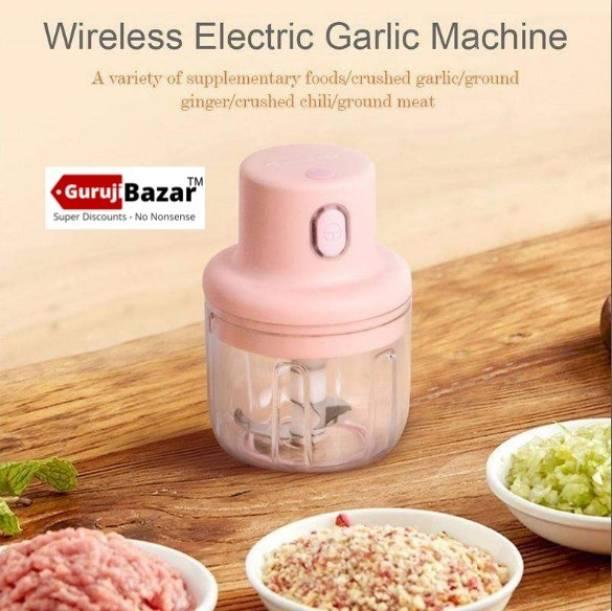 Guruji Bazar Intelligent Electric Garlic Machine ( Mini ) Portable Electric usb Chopper Electric Vegetable & Fruit Chopper