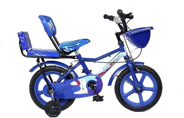 SSDYG Double Seat Bicycle 14 Inch Fully Adjustable with Back Seat & Support for Boys 14 T Road Cycle