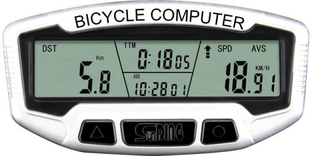 Sunding SD-558A 28 Functions Mountain Bike Backlight Wired Odometer Wired Cyclocomputer