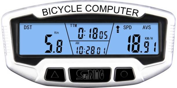Sunding Perfect Odometer for Riders Waterproof with BAck light and 28 Features Wired Cyclocomputer