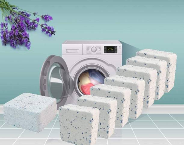 SHREEJIIH 10 Pcs Washing Machine Deep Cleaner Effervescent Lavender Tablet for All Company's Front and Top Load Machine, Descaling Powder Tablet for Perfectly Cleaning of Tub & Drum Dishwash Bar