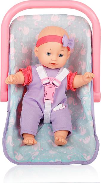 Miss & Chief Premium Quality Cuddly Baby Doll with Carrier, Extreme fun to play with Kids