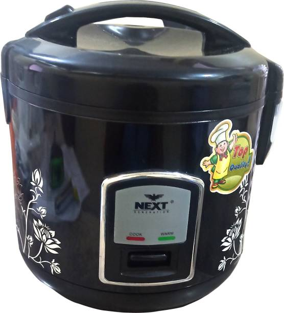 NextElectric Rice Cooker 1.5 ltr Auto-Cut off Multi function with Steaming System Rice Cooker, Egg Boiler, Egg Cooker, Food Steamer, Slow Cooker