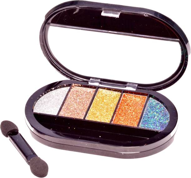 Imported 5 Color Professional Ultra Shiny Glitter Eyeshadow Palette 12.13 g
