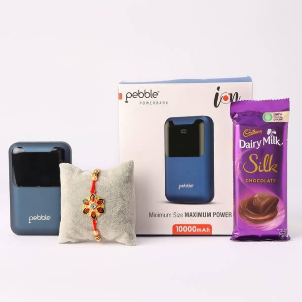 Ferns N Petals Meenakari Rakhi With Power Bank & Dairy Milk Silk Chocolate   Gift for Brother  Rakhi for Brother  Rakhi Gift  Rakhi Combo Assorted Gift Box