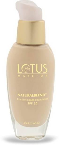 LOTUS MAKE - UP Natural blend Comfort Liquid SPF-20,buff-320 Foundation