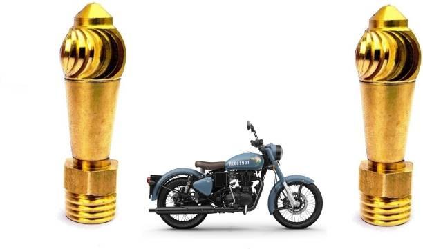 Cubeon Brass Diamond Cut Bike Handle Bar Set of 2 Handle Bar