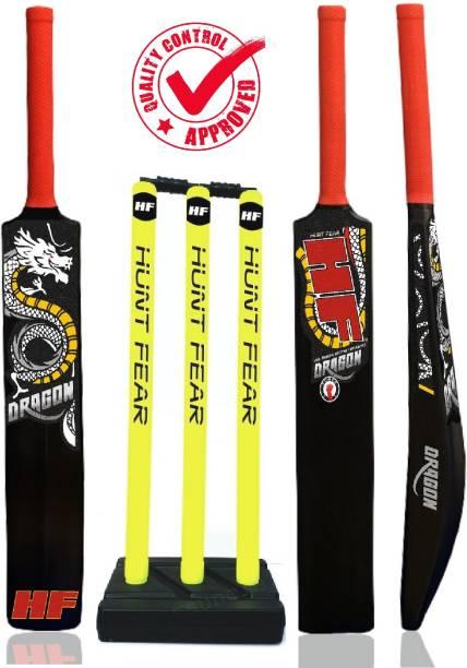 HF DRAGON EDITION HARD PLASTIC FULL SIZE BAT WITH HARD PLASTIC WICKET SET Cricket Kit