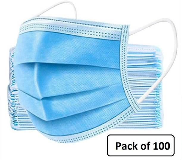 Nea Pharmaceutical with nose pin 3 layered / 3 ply with Meltblown layer in middle , Surgical Face mask 100% certified anti pollution - anti viral Mask with Nose-pin and soft Ear-loops Mask-100 - 0005 - Meltblown Water Resistant Surgical Mask With Melt Blown Fabric Layer