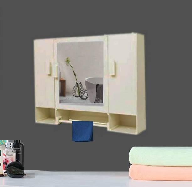 WINACO Supreem Off White 5 MM Thickness Bathroom Mirror Cabinet Fully Recessed Medicine Cabinet